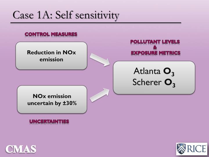 Case 1A: Self sensitivity