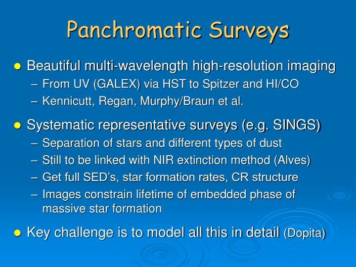 Panchromatic Surveys