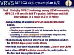 mpeg2 deployment plan 1 2