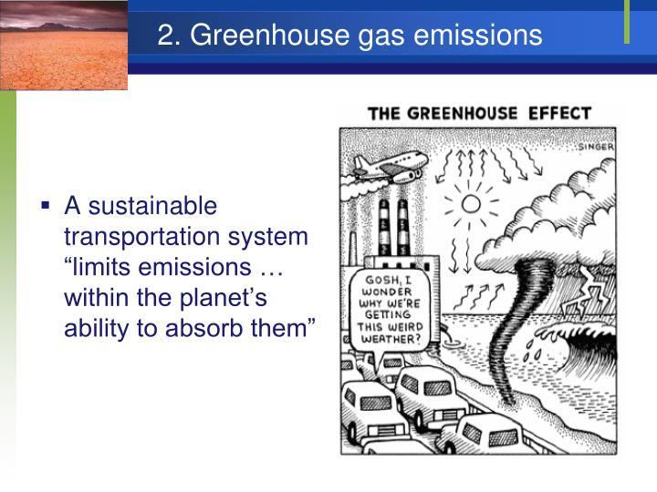 2. Greenhouse gas emissions