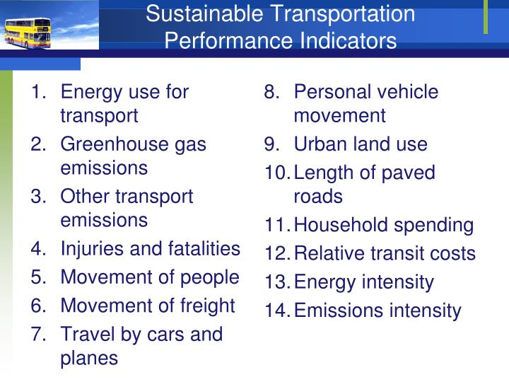 Energy use for transport