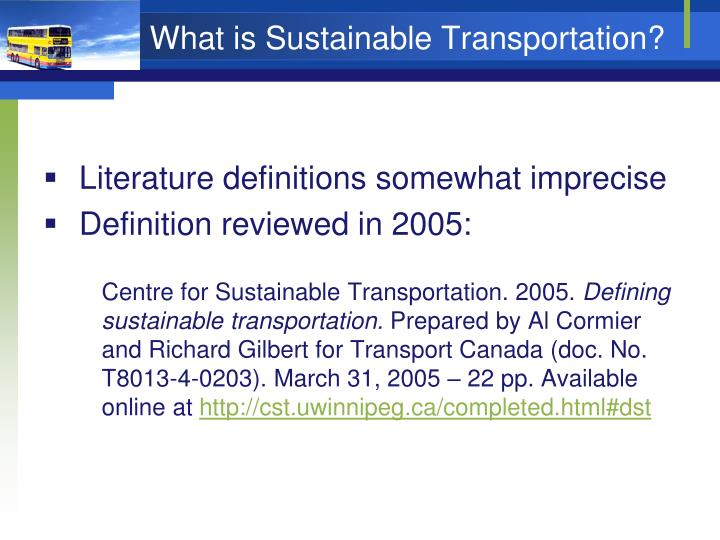 What is sustainable transportation