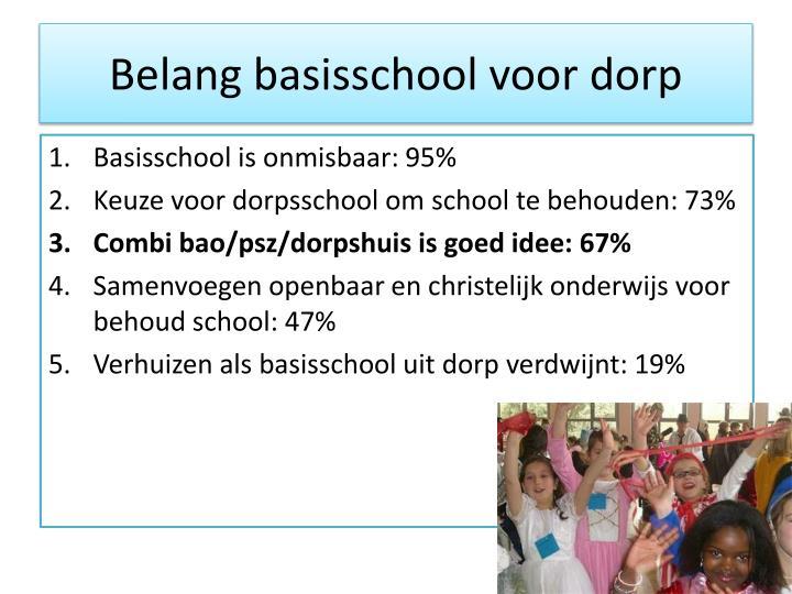 Belang basisschool voor dorp