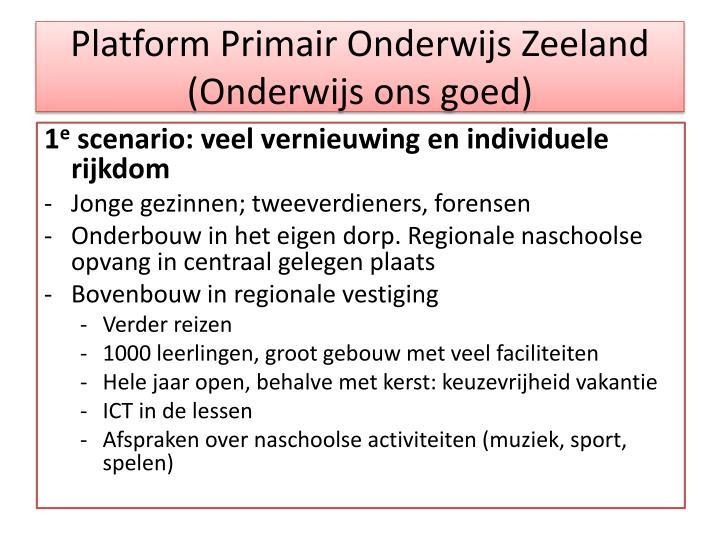 Platform Primair Onderwijs Zeeland (Onderwijs ons goed)