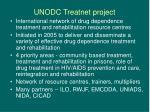 unodc treatnet project