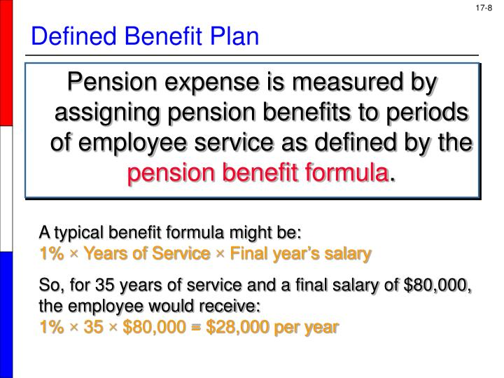 Pension expense is measured by assigning pension benefits to periods of employee service as defined by the