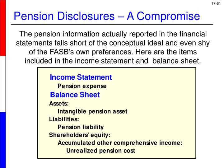 Pension Disclosures – A Compromise