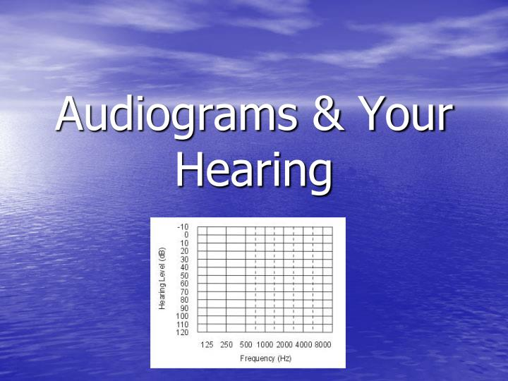 Audiograms & Your Hearing
