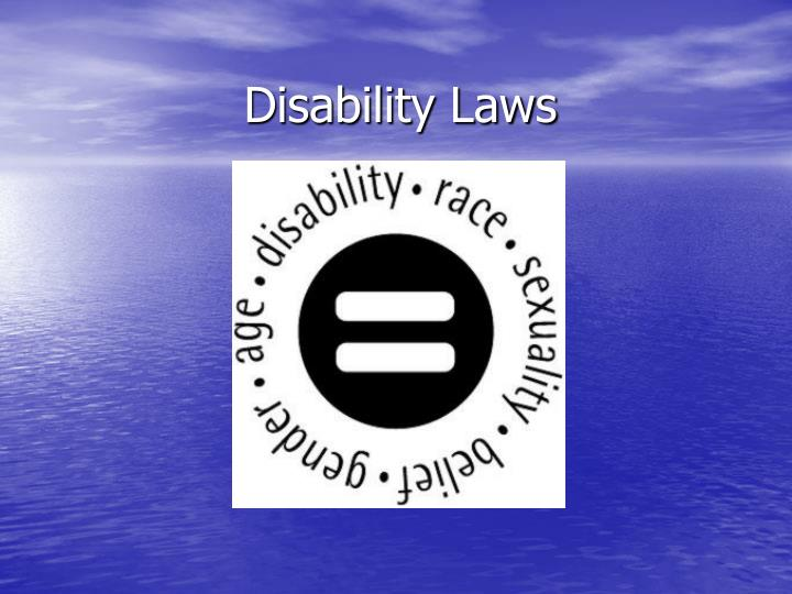 Disability Laws