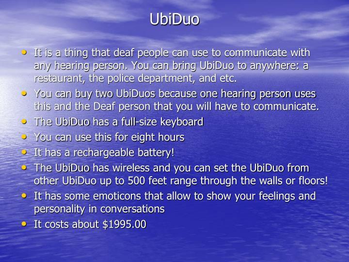 UbiDuo