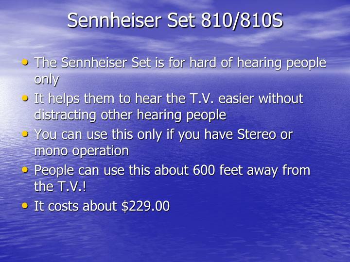Sennheiser Set 810/810S