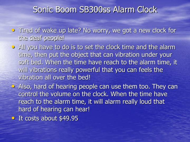 Sonic Boom SB300ss Alarm Clock
