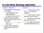 a link state routing algorithm