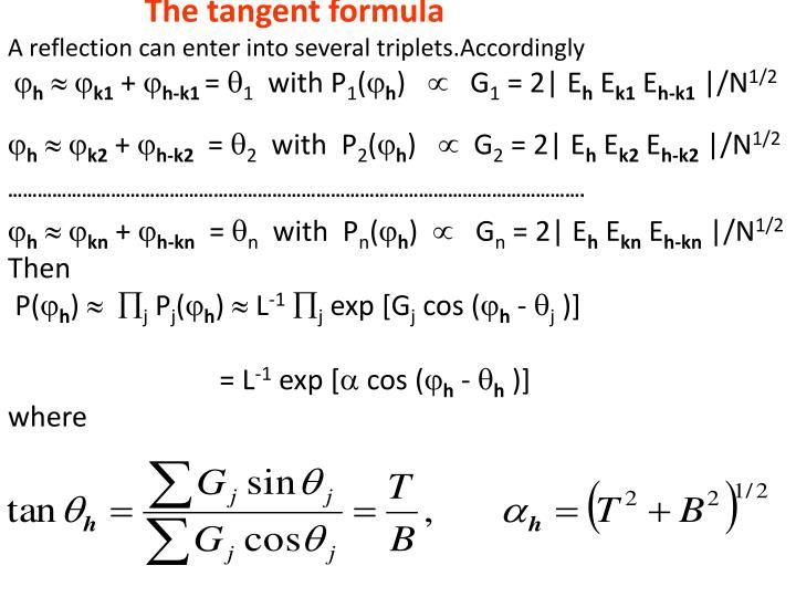 The tangent formula