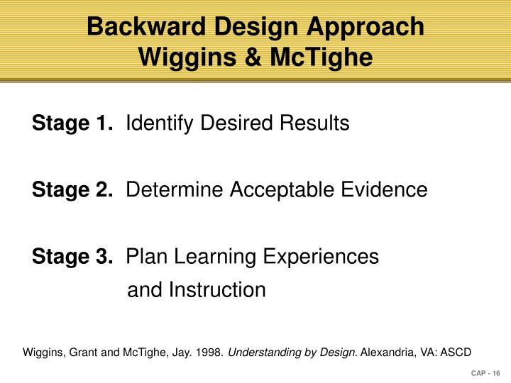Backward Design Approach