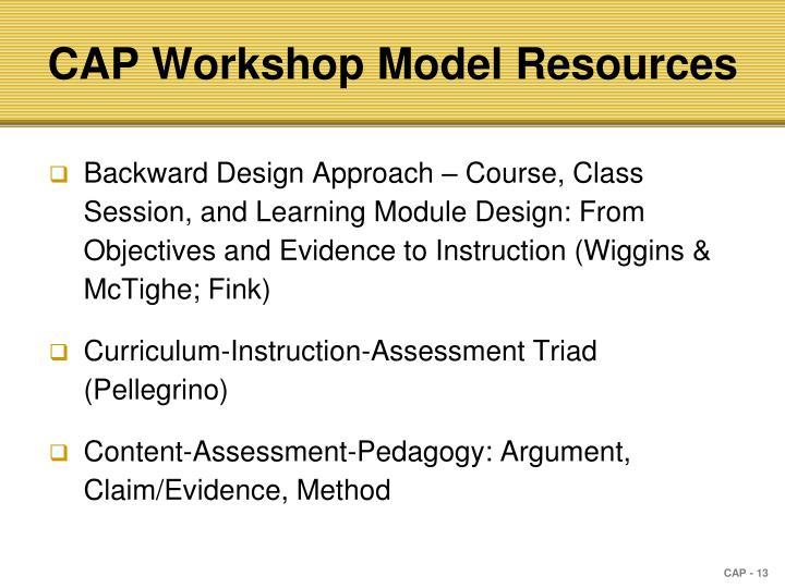 CAP Workshop Model Resources