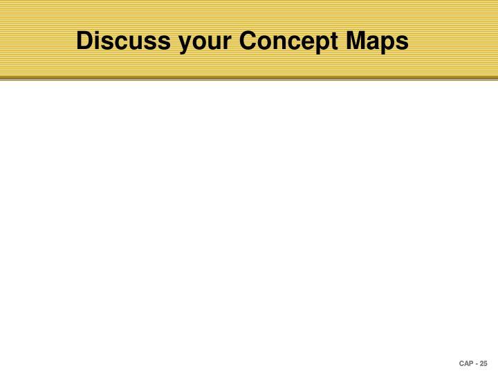 Discuss your Concept Maps