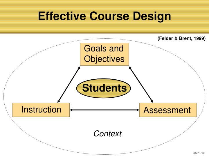 Effective Course Design