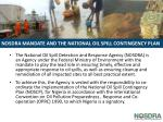 nosdra mandate and the national oil spill contingency plan