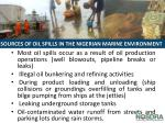 sources of oil spills in the nigerian marine environment