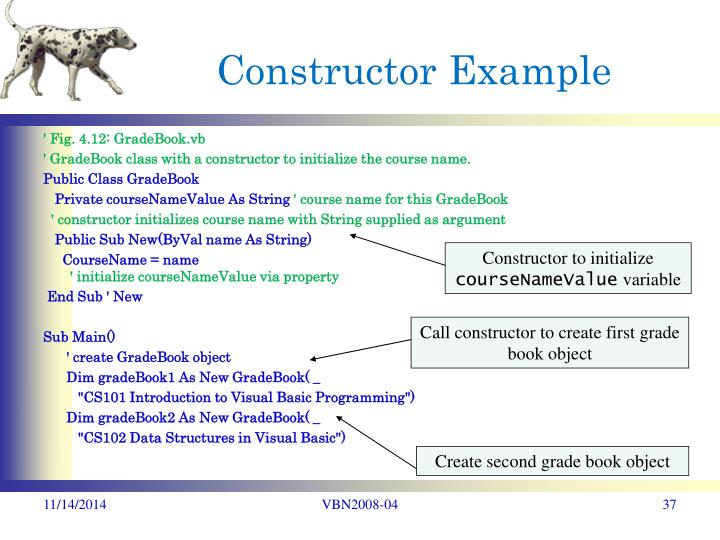 Call constructor to create first grade book object