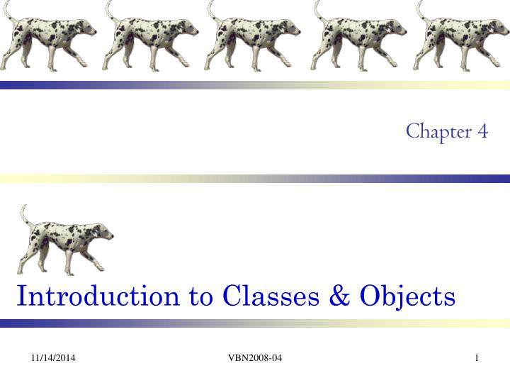 Introduction to classes objects