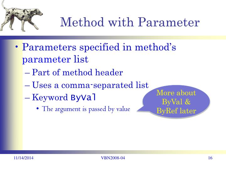 Method with Parameter