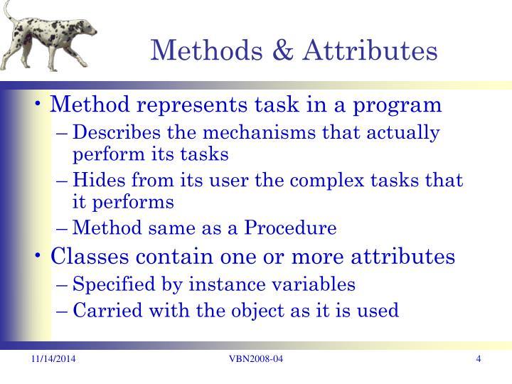 Methods & Attributes