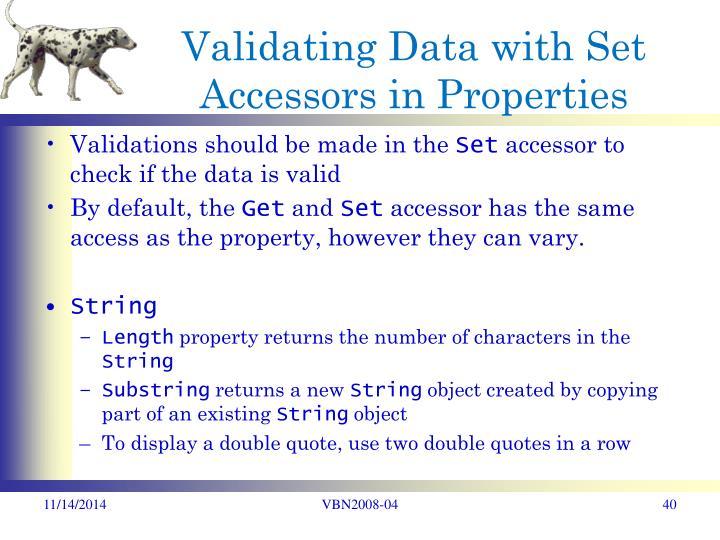 Validating Data with Set