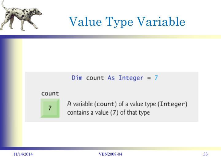Value Type Variable