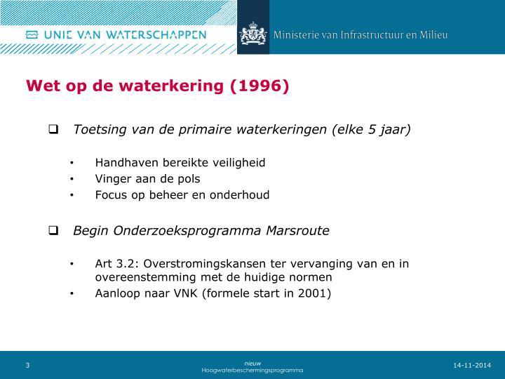 Wet op de waterkering 1996
