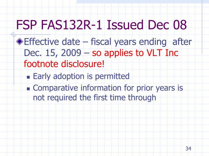 FSP FAS132R-1 Issued Dec 08