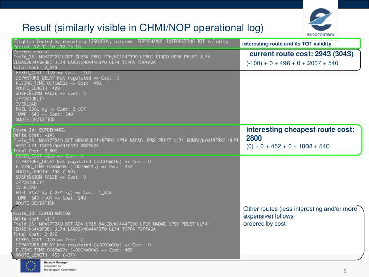 Result (similarly visible in CHMI/NOP operational log)