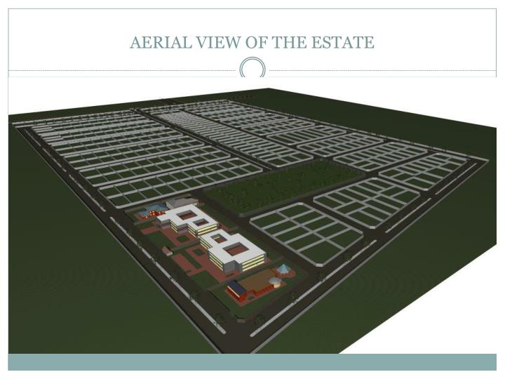 AERIAL VIEW OF THE ESTATE