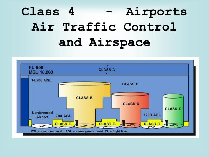 Class 4 airports air traffic control and airspace