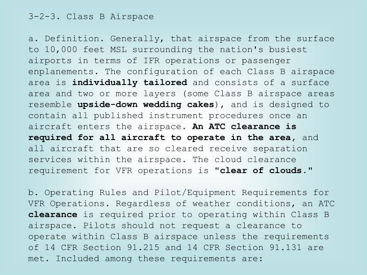 3-2-3. Class B Airspace