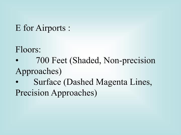 E for Airports :