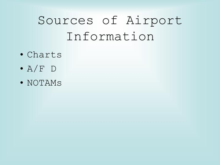 Sources of Airport Information