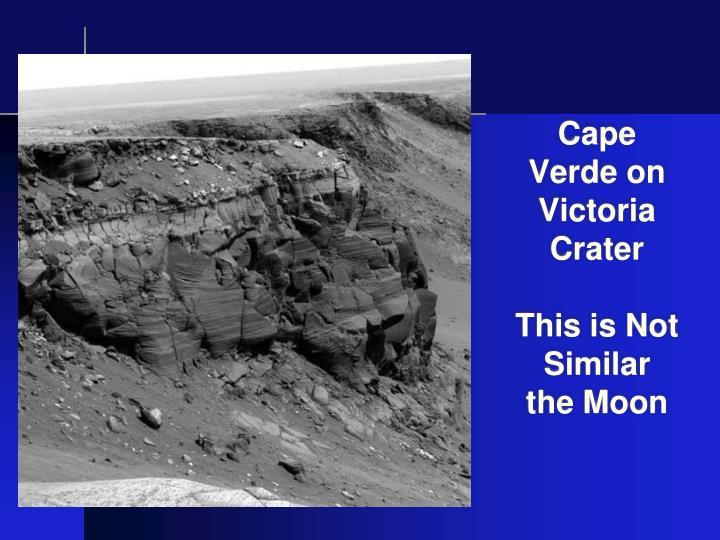 Cape Verde on Victoria Crater
