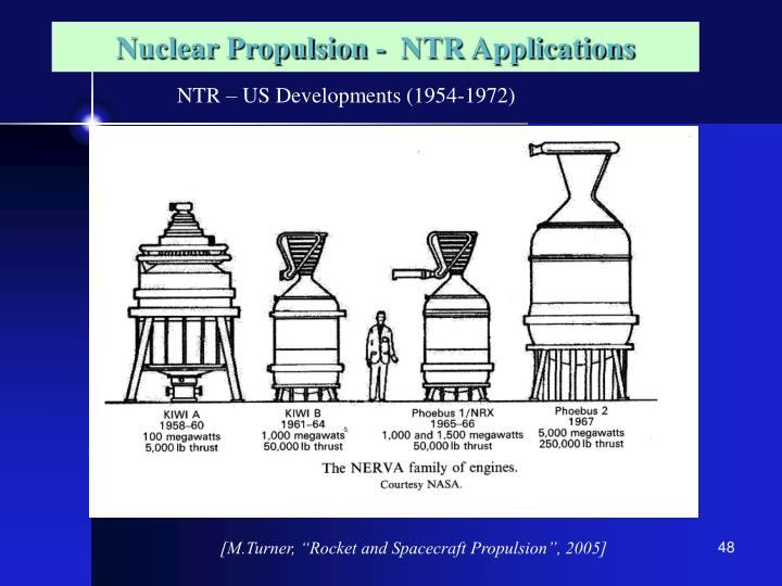 Nuclear Propulsion -  NTR Applications