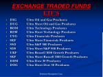 exchange traded funds etf s