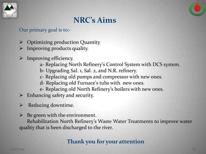 NRC's Aims
