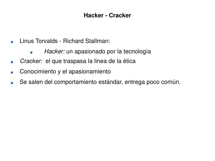 Hacker - Cracker