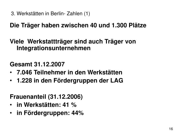 3. Werkstätten in Berlin- Zahlen (1)