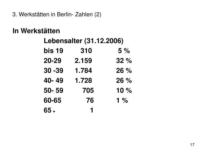 3. Werkstätten in Berlin- Zahlen (2)