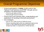 overall programme objectives