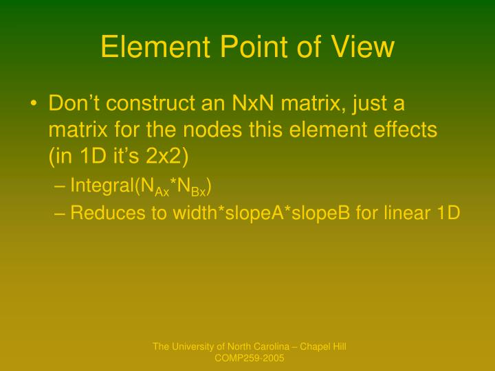 Element Point of View