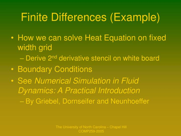 Finite Differences (Example)