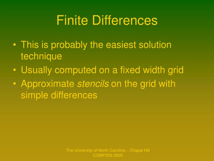 Finite Differences