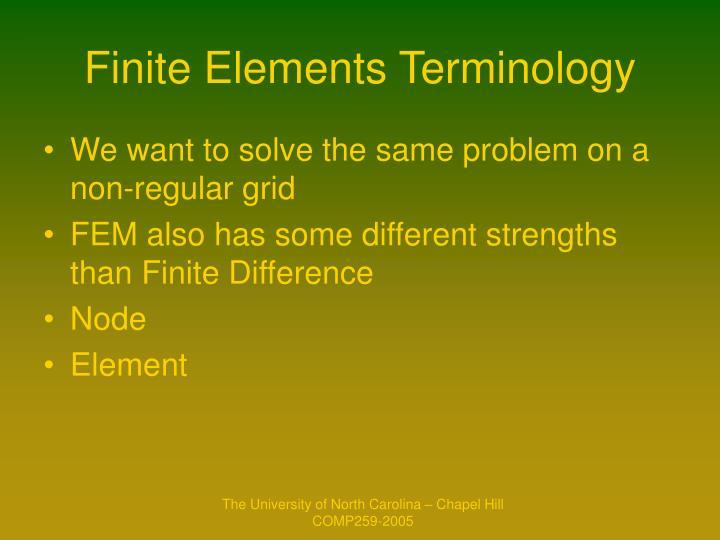 Finite Elements Terminology